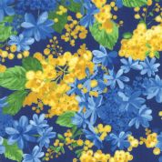 Moda - Summer Breeze 2019 - 7075 - Mixed Floral on Royal Blue - 33441 18 - Cotton Fabric